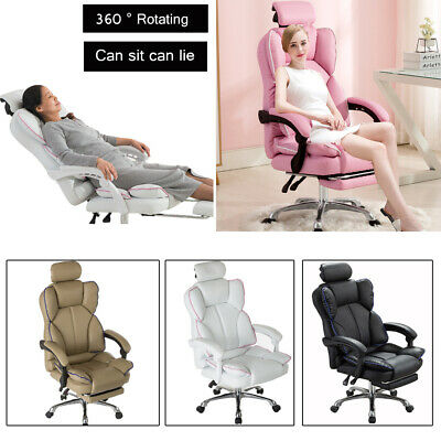 AU149.66 • Buy Computer Gaming Chair Executive Office Chairs Racer Recliner PU Seat Or Footrest