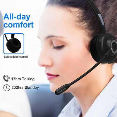 £26.48 • Buy Long Standby Bluetooth Headset With Microphone For Driver Call Centre Handsfree