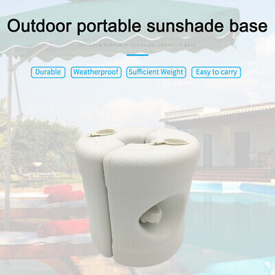 AU28.94 • Buy Round Patio Umbrella Base Plastic Stand Portable Filled Water Outdoor Garden