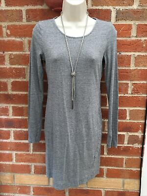 Ladies H&M Size 8-10 Grey Dress Stretchy Material Work Excellent Condition • 4.99£