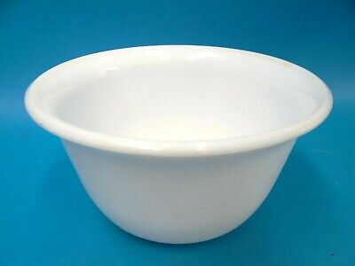 $35 • Buy Vintage Used General Electric GE Medium Sized Mixing Bowl Milk Glass Kitchen Old