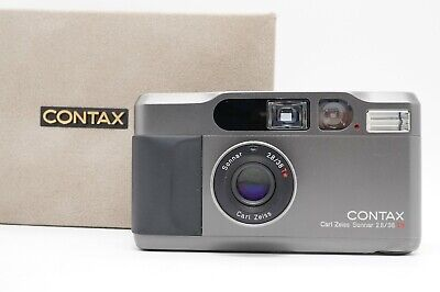 $ CDN2007.44 • Buy [Near MINT Box Case Strap] CONTAX T2 Titanium Black Point & Shoot Camera Japan
