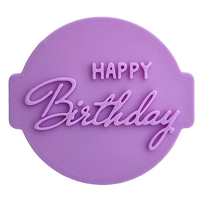 £4.95 • Buy Happy Birthday Embosser / Stamp HB08 For Fondant /Cupcake /Cake / Cookie Cutter