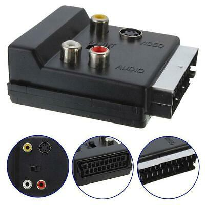 £3.02 • Buy SWITCHABLE SCART MALE TO FEMALE & 3*RCA PHONO & 4 Pin Mini Din SVHS TV ADAPTER