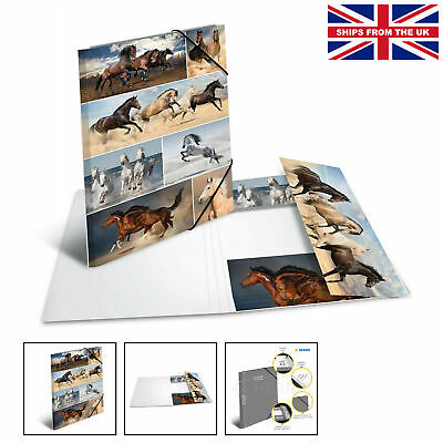 £16.75 • Buy HERMA Elastic Folder Animals With Horses Motif, A3, Sturdy Cardboard, With In...