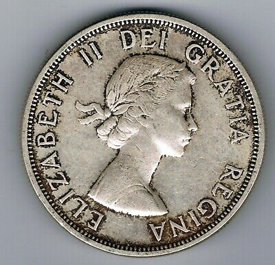 1959 Canada Silver One Dollar $1 Coin : 23.5g • 19£