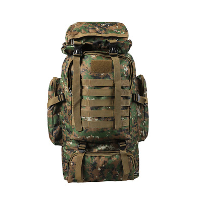 AU47 • Buy 80L Military Tactical Backpack Rucksack Hiking Camping Outdoor Trekking Army Bag