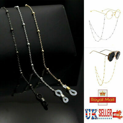 £2.99 • Buy Glasses Sunglasses Chain Holder Gold Silver Lanyard Necklace Neck Cord String UK