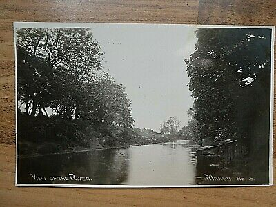 1935 Posted Real Photo Postcard Of River, March, Cambridgeshire • 3.99£