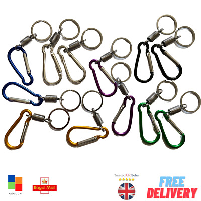 £1.99 • Buy New Style Carabiner D-Ring With Key Chain Clip Snap Hook Camping Key Ring UK - £