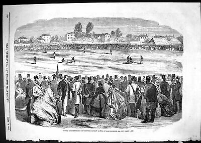 Old 1867 Oxford Cambridge University Cricket Match Lords Ground Sport Victorian • 21£
