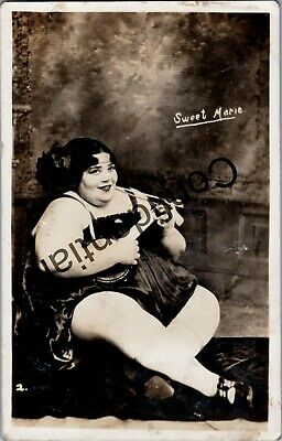 $ CDN120.91 • Buy Rare Real Photo Autographed Sweet Marie The Circus Fat Lady Sideshow RP RPPC C96