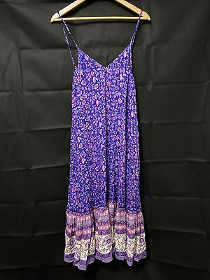 AU190 • Buy Spell Designs Dahlia Bravehearts Strappy Dress Purple Haze M BNWT