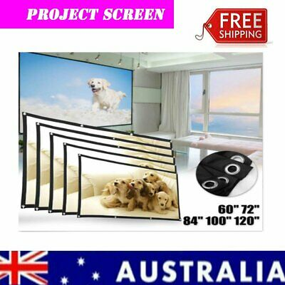 AU19.69 • Buy Portable Foldable 16:9 Projector Screen Home Movie Cinema Theater Indoor Outdoor