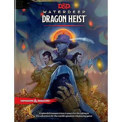 AU58.50 • Buy D&D Waterdeep Dragon Heist - Hardcover 5th Edition Book Dungeons And Dragons