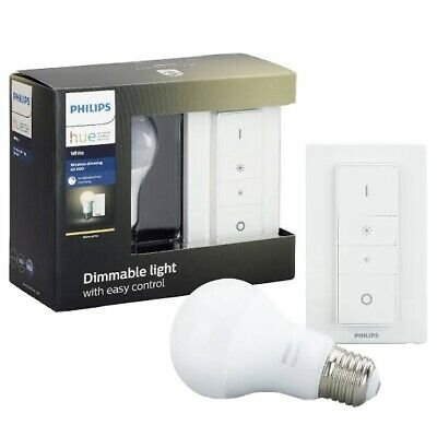 AU59.95 • Buy Philips Hue Wireless Dimming Kit A60 - (Wireless Dimmer Switch + E27 Bulb X1)