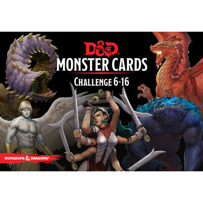 AU30.45 • Buy D&D Spellbook Cards Monster Cards Challenge 6-16 - Dungeons And Dragons
