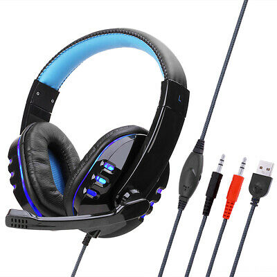 AU19.99 • Buy 3.5mm Gaming Headset W/ Mic Wired Stereo Headphones For PC  Laptop PS4 Xbox One