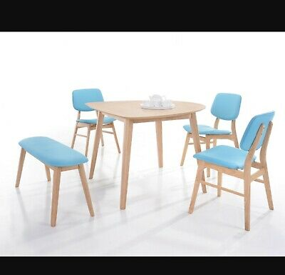 AU190 • Buy Jara D Shape Dining Table 3 Chairs And Stool