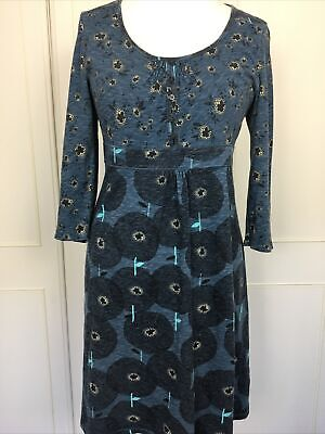 AU30.39 • Buy Mantaray Size 14 Navy Blue Stretch Jersey Cotton Casual Summer Dress