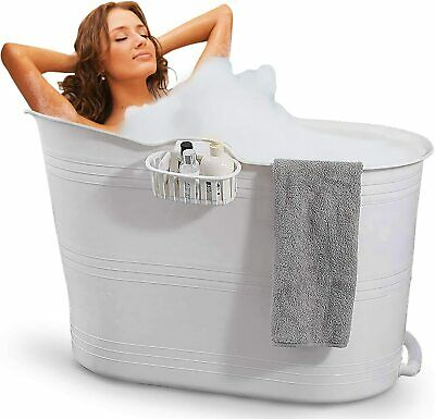 £112.86 • Buy Bath Bucket White | Mobile Bathtub For Adults | Ideal For Small Bathrooms