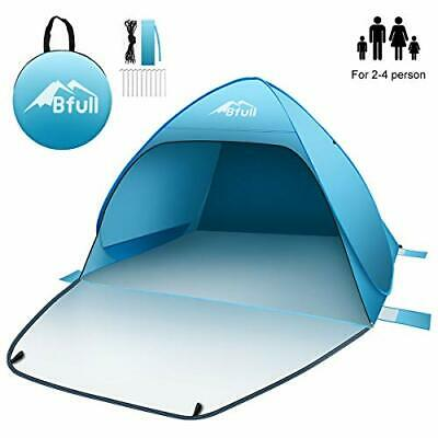 AU102.27 • Buy Pop Up Beach Tent For 2-4 Man, Automatic Sun Tents Anti UV, Compact