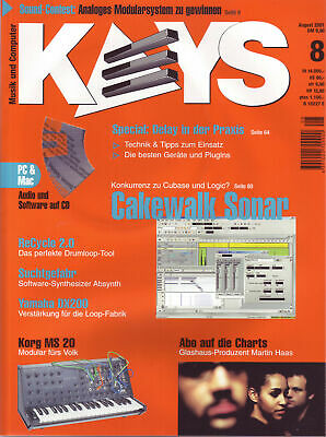 Keys 8 2001 With Audio And Software On CD / Cakewalk Sonar / Delay IN The Praxis • 4.43£