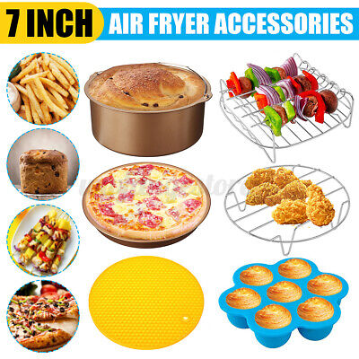 AU22.65 • Buy 11Pcs 7'' Air Fryer Accessories Set Cake Pizza Oven Barbecue Frying Pan Tray