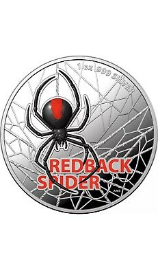 AU5000 • Buy 2021 Australian Redback Spider 2021 $5 Coloured 1oz Silver Proof Coin-RAMINT
