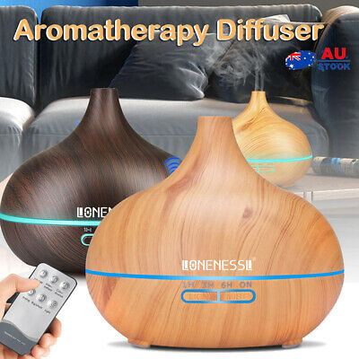 AU6.99 • Buy LONENESSL Aromatherapy Diffuser Aroma Essential Oil Air Humidifier Wood Grain