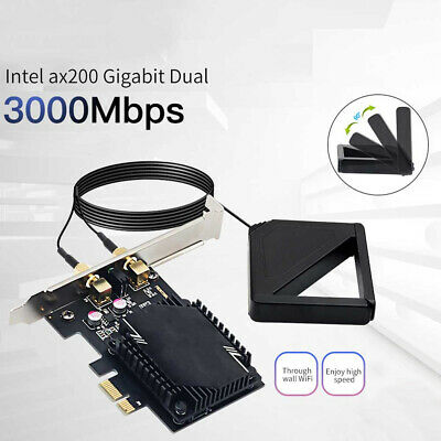 £8.72 • Buy Wireless Network Card Antenna 3000M WiFi6 Pcie Signal Dual Frequency Gaming