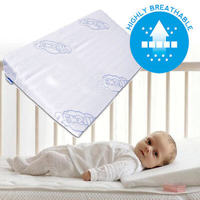 £8.99 • Buy BABY WEDGE ANTI REFLUX COLIC PILLOW CUSHION FOR CRIB COT COTBED FOAM 60x37 30x37