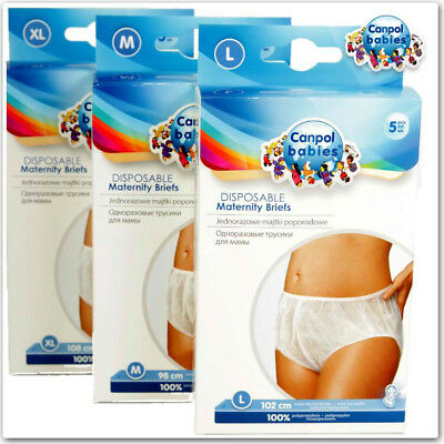 £3.98 • Buy Pants Canpol Disposable Maternity Knickers Hospital Pregnancy Post Partum Briefs