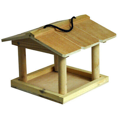 £10.95 • Buy Kingfisher Traditional Wooden Bird Food Table Feeding Station Hanging New