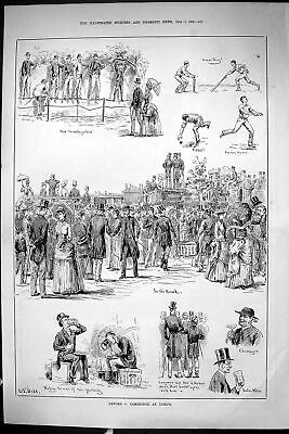 Old Sporting Dramatic News 1885 Oxford Cambridge Lords Cricket Sport Victorian • 19£