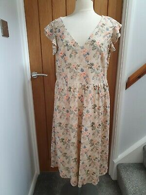 AU22.36 • Buy Size 18 Lined Pastel Floral Dress Bnwt From Red Herring