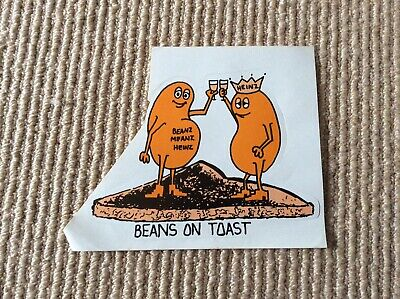 AU9 • Buy Beanz Means Heinz Vintage 1980's Sticker
