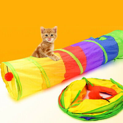 £7.79 • Buy 2 Way Pet Cat Tunnel Toy Rabbit Pop Up Tube Collapsible Puppy Kitten Play Toy UK