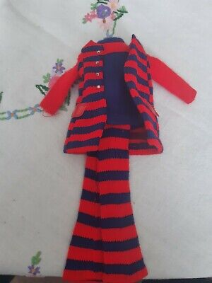 AU20 • Buy Vintage Francie Doll Clothes, Original 1970's. Striped Types #1243 Great Cond.