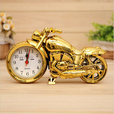 Cool Motorcycle Model Quartz Movement Alarm Clock Desktop Office Home Decoration • 7.66£