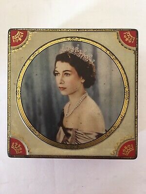 Vintage Retro Biscuit Tin/ Sweet Tin Coronation 1950' • 7£