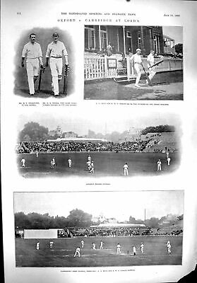 Old 1900 Sport Oxford Cambridge Cricket Lords Pilkington Foster Hind Victorian • 16£