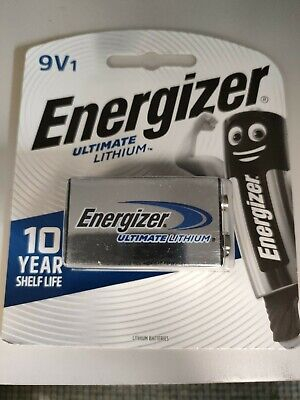 AU11.95 • Buy Energizer Ultimate Lithium 9V Battery 1 Pack Brand New And Sealed