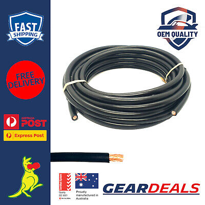 AU36.99 • Buy 6 B S Cable Single Core 6m Roll Black 103 Amp Australian Made 6 AWG Cable 6 B&S