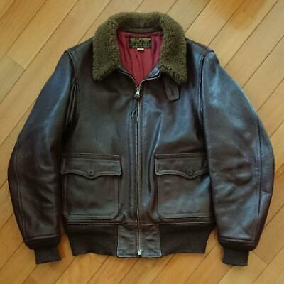 $846 • Buy REAL McCOY'S Authentic M-422A Leather Jacket Brown Size 36 Used From Japan