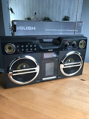 £29.99 • Buy Bush Stereo Boombox With Dock For Ipod And Iphone