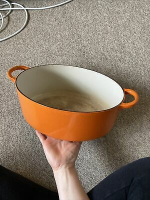 £40 • Buy Large Size G 31cm Le Creuset Orange Oval Casserole Dish No Lid - Used