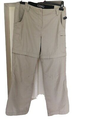 Berghaus Odyssey Cream Walking Zip Off Trousers  Size 14R Excellent Condition  • 3.90£