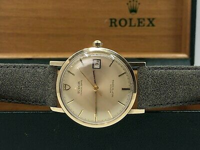 $ CDN2342.90 • Buy Vintage 9k 9ct Gold ROLEX TUDOR Prince Date Automatic Mens Watch + Box