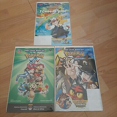 $22 • Buy Pokemon Free Comic Book Day FCBD Lot Sun And Moon/X And Y / I Choose You
